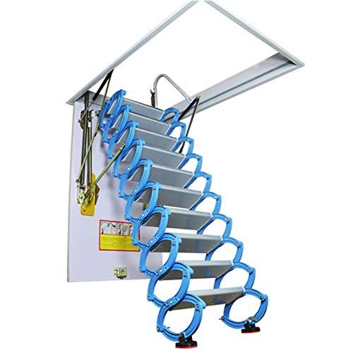 JFF Escalera Retráctil para El Hogar De Aleación De Titanio Y Magnesio para Loft, Escalera Plegable para El Hogar, Bisagra De Escalera Abatible para Ático,70 × 120 cm