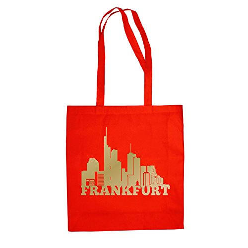 Shirt Department - Jutebeutel - Frankfurt Skyline rot-Gold