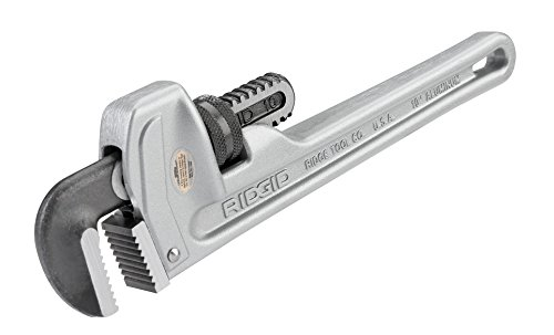 RIDGID 31090 Model 810 Aluminum Straight Pipe Wrench, 10-inch Plumbing Wrench