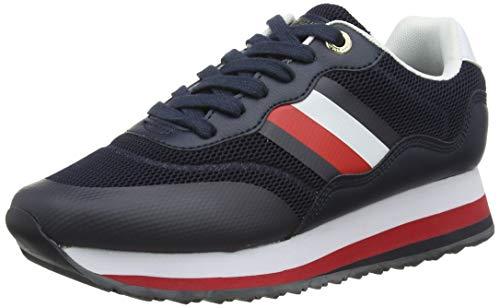 Tommy Hilfiger Damen Sporty Tommy Retro Runner Sneaker, Blau (Desert Sky Dw5), 39 EU