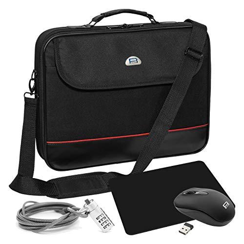 Pedea Laptoptasche Trendline Umhängetasche Messenger Bag 13,3/15,6/17,3/18,4/20,1 Zoll (17,3 Zoll, Starterset (4 Teile))