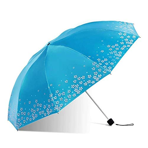 SBSNH Paraguas Portátil Protección UV Protección Solar Paraguas Paraguas Plegable, Viajes Paraguas Al Aire Libre, Paraguas De Tres Pliegues
