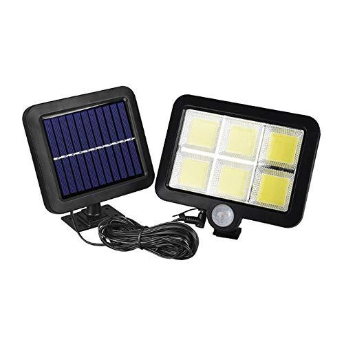 120 Ligero de la Pared de la energía Solar luz del Panel de luz Sensor de Movimiento al Aire Libre Securtiy Noche Separable Solar IP65 Impermeable para Patio Patio Garaje Cubierta