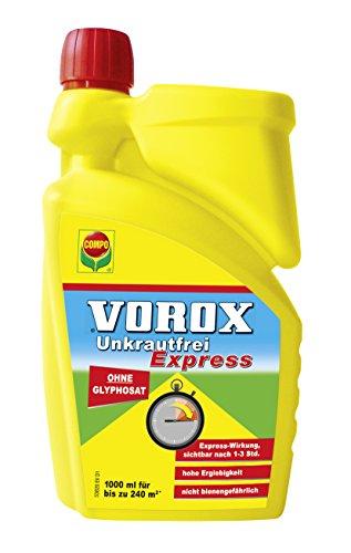 Compo Vorox Unkrautfrei Express ohne Glyphosat 1 Liter Totalherbizid Herbizid gegen Unkräuter Algen und Moose