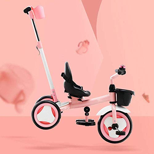 Triciclos 3 en 1 Trikes para niños de 18 meses a 6 años 360 & deg; Asiento giratorio de la silla de montar Se puede ajustar hacia atrás Triciclo de niños Desmontable y ajustable Manija de empuje 3 rue