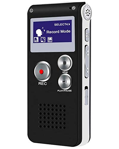 Digital Voice Recorder Meeting 8G - Easy to Use, Clear Recording with Playback - Voice Activated Recorder - Digital Audio Recorder for Lectures, Handheld Recording Device, Grabadora de Voz Digital