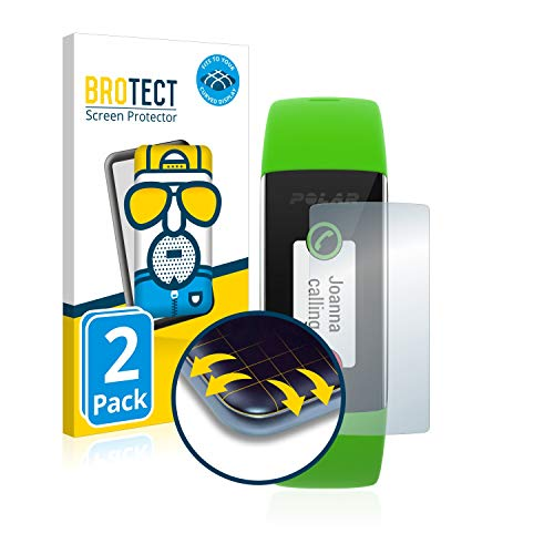BROTECT Full-Cover Schutzfolie Matt kompatibel mit Polar A360 (2 Stück) - Full-Screen Bildschirmschutz-Folie, 3D Curved, Anti-Reflex