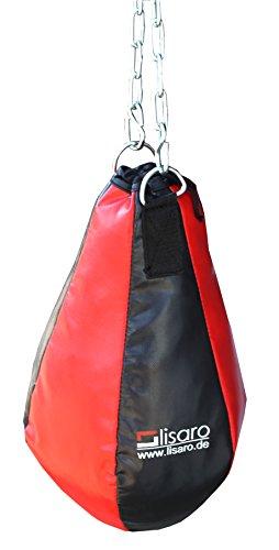 Lisaro Maisbirne Large Kunstleder, gefüllt/Maisbirne im 6 Elementen Design inkl. Stahlkette-Aufhängung/rot-schwarz 5-KG