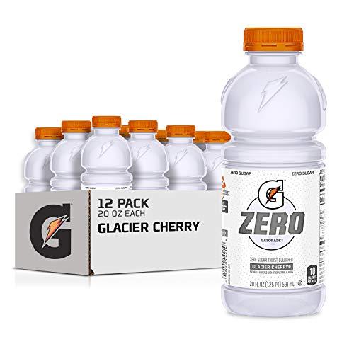 Gatorade Zero Sugar Thirst Quencher Glacier Cherry 20 Fl Oz Pack of 12