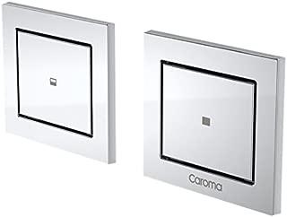 Caroma 237023S Invisi Rectangle Dual Flush Custom Buttons, Satin