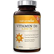 NatureWise Vitamin D3 4,000 IU for Healthy Muscle Function, Bone Health, and Immune Support | Non-GMO and Gluten-Free in Cold-Pressed Organic Olive Oil Capsule [1-Year Supply - 360 Count]