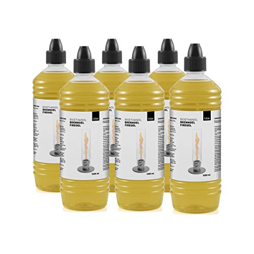 höfats - Spin Bioethanol Brenngel 6X Nachfüllflasche - Zubehör für Spin…