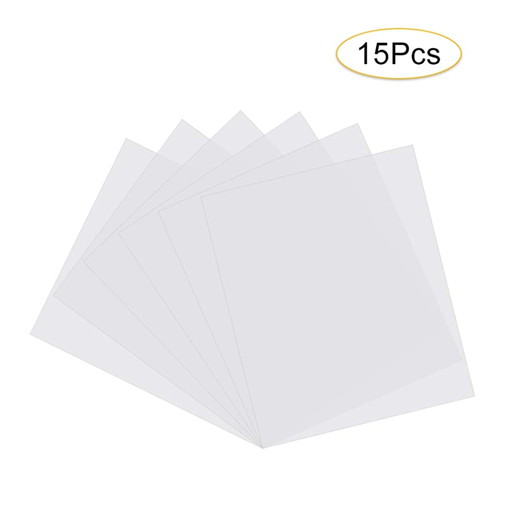15 Pieces Blank Stencil Sheets, QIUYE Square Blank PET Templates for Making Your Own Stencils, Milky White Translucent (8.5 x 11 inch)