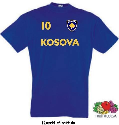 world-of-shirt Herren T-Shirt Kosovo im Trikot Look neue fahne