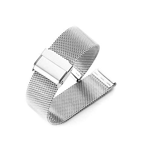 Uhrenarmbänder Mesh Edelstahl Ersatzband Metall Uhrarmband Faltschließe Uhr Band Schnalle Wechselarmband Uhr Armband Smart Watch Wrist Strap Band Replacement
