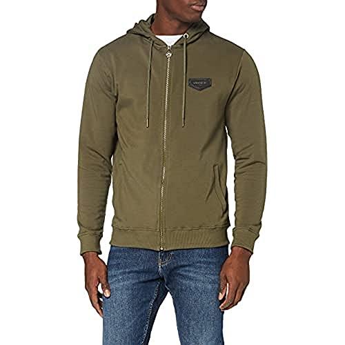 Gianni Kavanagh Army Green Core Hoodie Jacket Sudadera con Capucha para Hombre