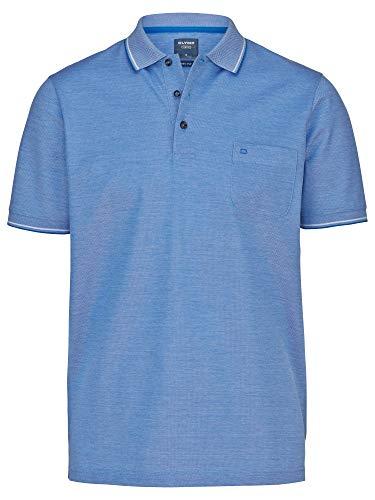 OLYMP Herren Polo Shirt Kurzarm Casual Polo,Einfarbig,modern fit,Kobalt 08,XL