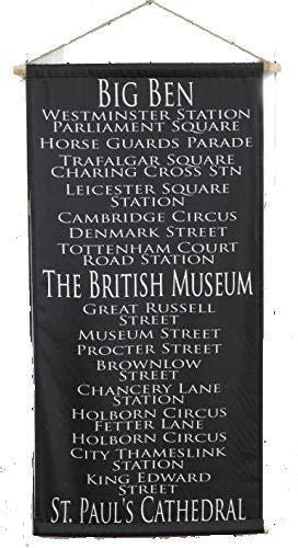 バスロール サイン タペストリー 120×60cm バスロールサイン イギリス ロンドン