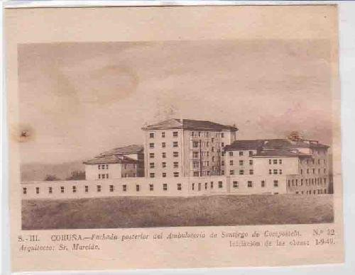 Postal Antigua - Old Post Card : S.III. Coruña - Fachada posterior...
