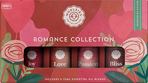 Woolzies 100% Pure Romance Essential Oil Set of 4 | Love, Joy, Passion & Bliss | Highest Quality Aromatherapy Therapeutic Grade | For Diffusion Internal & Topical Use