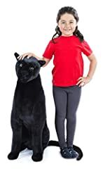Panther is 46 inches long x 33 inches tall x 12 inches wide Realistic details; plush body looks just like a real panther Sturdy wireframe helps the panther stand tall and proud Built sturdy; not intended as a seat or ride-on Crafted from extra-strong...