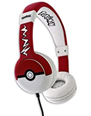 Casque Audio Pokémon Pokeball OTL Technologies Rouge et Blanc, O-PK0517
