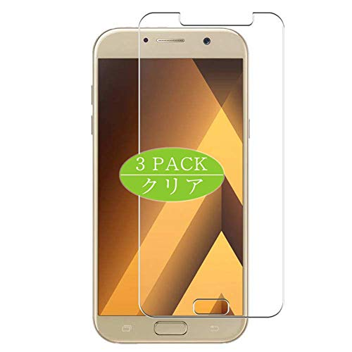 VacFun 3 Piezas HD Claro Protector de Pantalla Compatible con Samsung Galaxy A7 (2017) A720F / A720F, Screen Protector Sin Burbujas Película Protectora (Not Cristal Templado) New Version