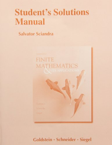 Download Student's Solutions Manual for Finite Mathematics & Its Applications 0321878310