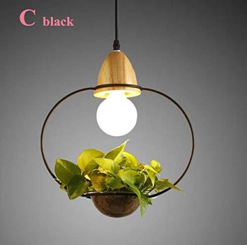 American Plant Pot hanglamp Ristorante Sala eetkamerlamp kleur wit zwart hanglamp hout met glas