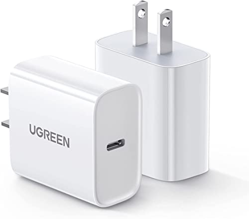 popular UGREEN 20W USB C Wall Charger wholesale - 2 Pack PD Fast Charger Block Power Adapter Compatible for iPhone 12/12 Mini/12 Pro/12 Pro Max/11/SE/XR, AirPods Pro, iPad Pro, online Galaxy, Pixel 4/3, and More online