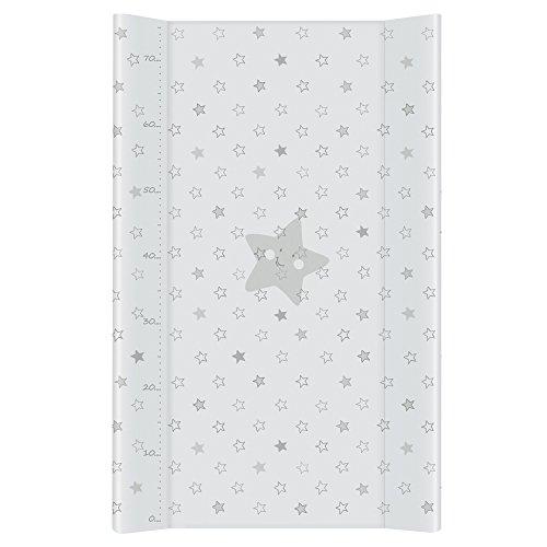 Cambiador Bebe Impermeable para Niños y Niñas - Gris Estrellas 80x50 cm