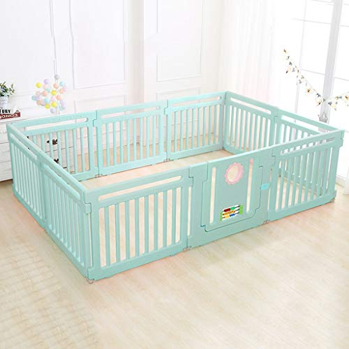 Read About CYLQ Indoor Outdoor Baby Playpen,Kids 10 Panel Plastic Safety Play Center Yard,Versat...