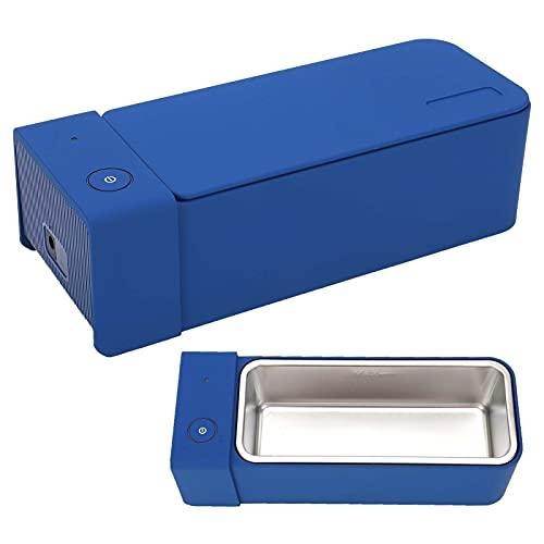 Limpiador ultrasónico de joyas 600ml Máquina de limpieza de baño de tanque ultrasónico para gafas, joyas, relojes, dentaduras postizas, MK186 Limpiador ultrasónico profesional portátil(EU)