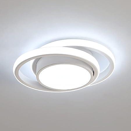 Comely Plafonnier LED, Rond Lampe de Plafond 32W 2500lm, Moderne Luminaire Plafonnier pour Couloir Coucher Salle de Bains Cuisine Salon, Blanc Froid 6000K, Longueur 28cm