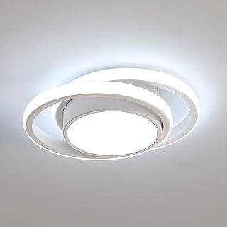 Comely Plafonnier LED, Rond Lampe de Plafond 32W 2500lm, Moderne Luminaire Plafonnier pour Couloir Coucher Salle de Bains ...