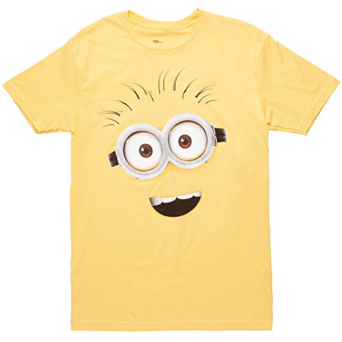 Despicable Me Minions Face Questionable Phil T-Shirt - Yellow (Small)