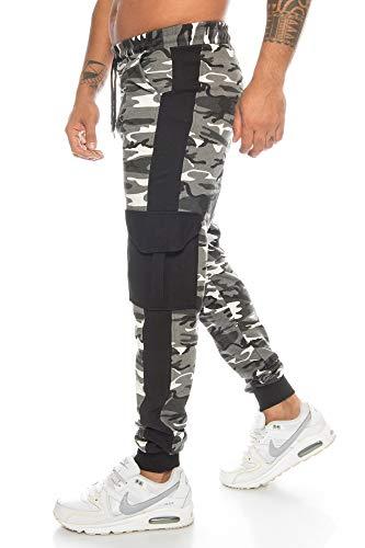 Raff&Taff Pantalones de deporte para hombre, de camuflaje, para el tiempo libre, yoga, fútbol, correr, cargo, Metro, S