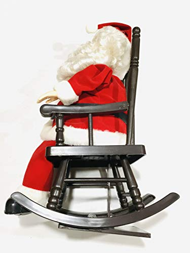 "Telco 14"" Snoring Sleeping Santa Animated Rocking Chair Figure Sound & Motion"