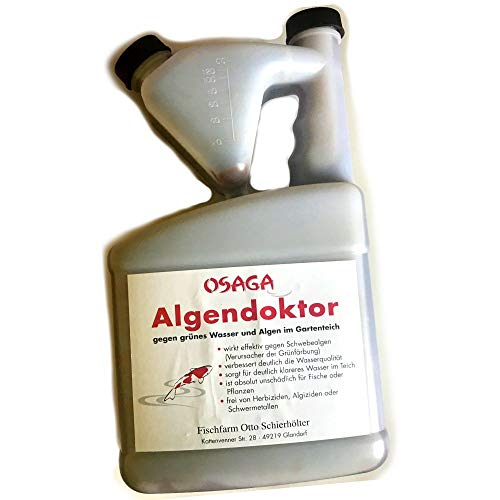 OSAGA Algendoktor gegen grünes Wasser & Algen im Gartenteich für 40.000l