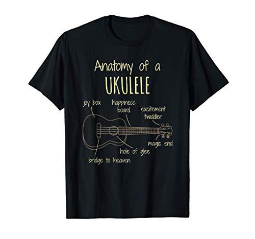 Ukulele Anatomy Inspired Uke Lover Related Ukulele Design T-Shirt
