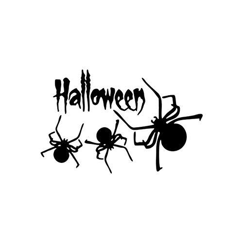 Jingyuu Halloween Wandsticker Spinnen-Moitif Dekoration für Wohnzimmer Schlafzimmer Vitrine Hintergrund Bildschirm Dekoration