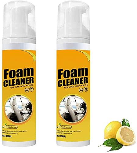 WYNH Limpiador de espuma multiusos en espray para interior de coche, para coche y casa, sabor a limón (2 unidades)