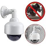 Dummy Kamera Attrappe mit Objektiv Speed Dome mit blinkendem Licht wasserdicht für Innen und Aussen hochwertig