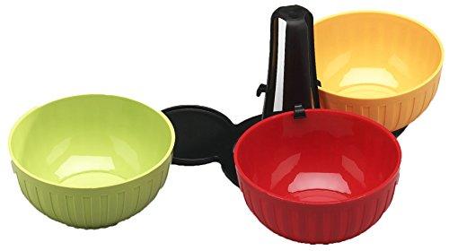 Arrow Home Products C 3 Piece Fiesta Server Bowl, Multicolor