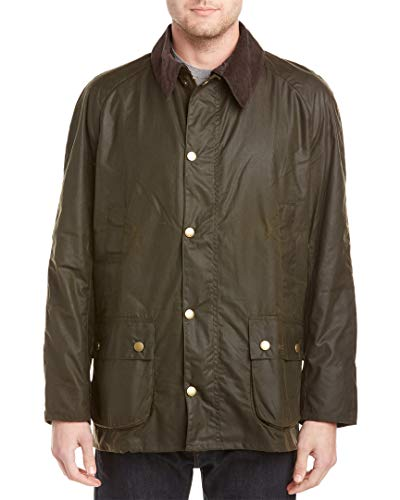 Barbour Men's Ashby Waxed Cotton Jacket, Olive, Large