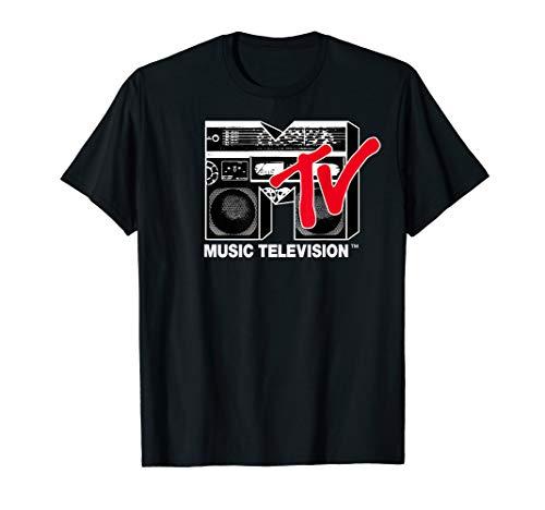 MTV Logo Red Boombox Graphic T-Shirt