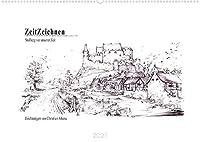 ZeitZeichnen - Stolberg vor unserer Zeit (Wandkalender 2021 DIN A2 quer): Die Kupferstadt Stolberg in Rekonstruktionszeichnungen vom 16. bis zum 19. Jahrhundert (Monatskalender, 14 Seiten )