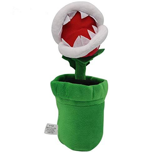 Super Mario Bros Petey Piranha Soft Plush Toy,Stuffed Animal Doll Flower.Size:10 inch(26cm).