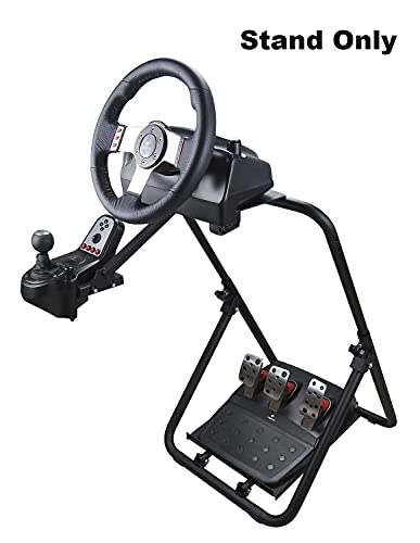 Eilsorrn Racing Steering Wheel Stand Tilt-Adjustable Racing Stand for Logitech Thrustmaster Xbox PS4 PC G920 G29 G25 G27 (Wheel Pedals NOT Included)