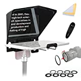 Bestview T2 Teleprompter Kit with Remote Control Compatible with iPhone Android Smartphone Ipad DSLR for Interview Speech Live Streaming Online Video Vlog YouTube
